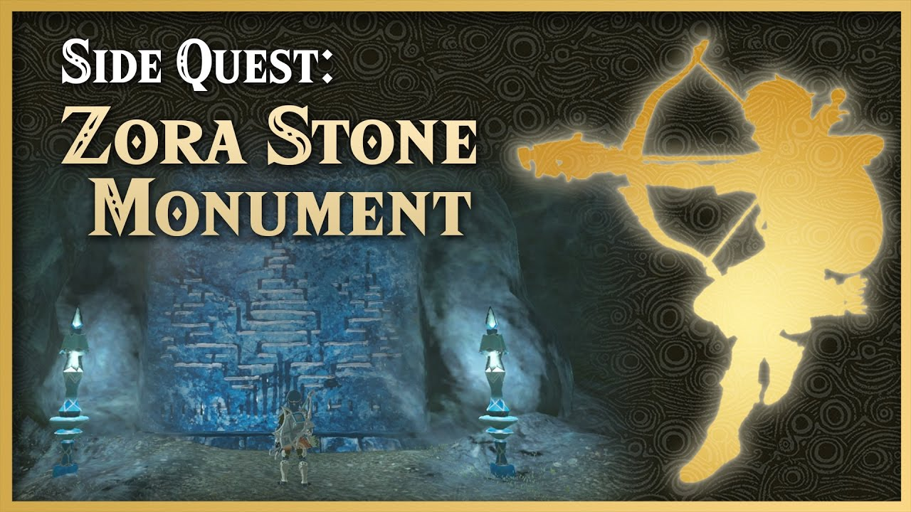 Zelda Breath Of The Wild Zora Stone Monuments Lanayru Side