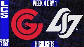 CG vs CLG Highlights | LCS Spring 2019 Week 4 Day 1 | Clutch Gaming vs Counter Logic Gaming