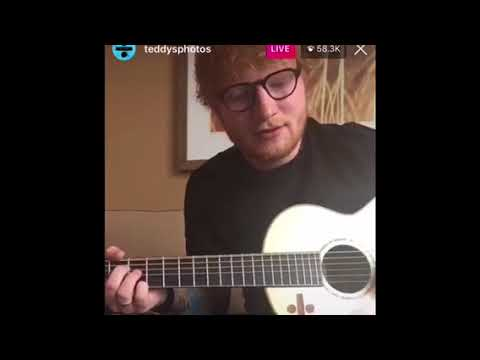 ED SHEERAN SINGING INSTAGRAM LIVE