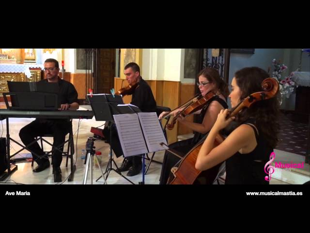 Ave Maria Schubert - Piano y trio de cuerda -Ceremonia religiosa - bodas Murcia Alicante Almeria