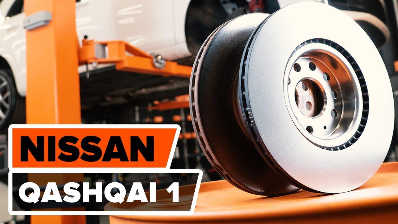 disques de frein plaquettes de frein avant sur une nissan qashqai 1 tutoriel autodoc youtube. Black Bedroom Furniture Sets. Home Design Ideas