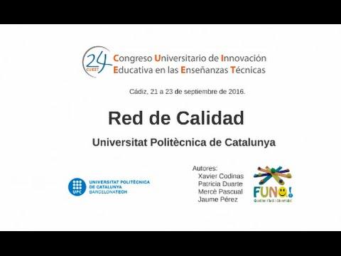 Red de Calidad de la Universitat Politècnica de Catalunya (UPC)