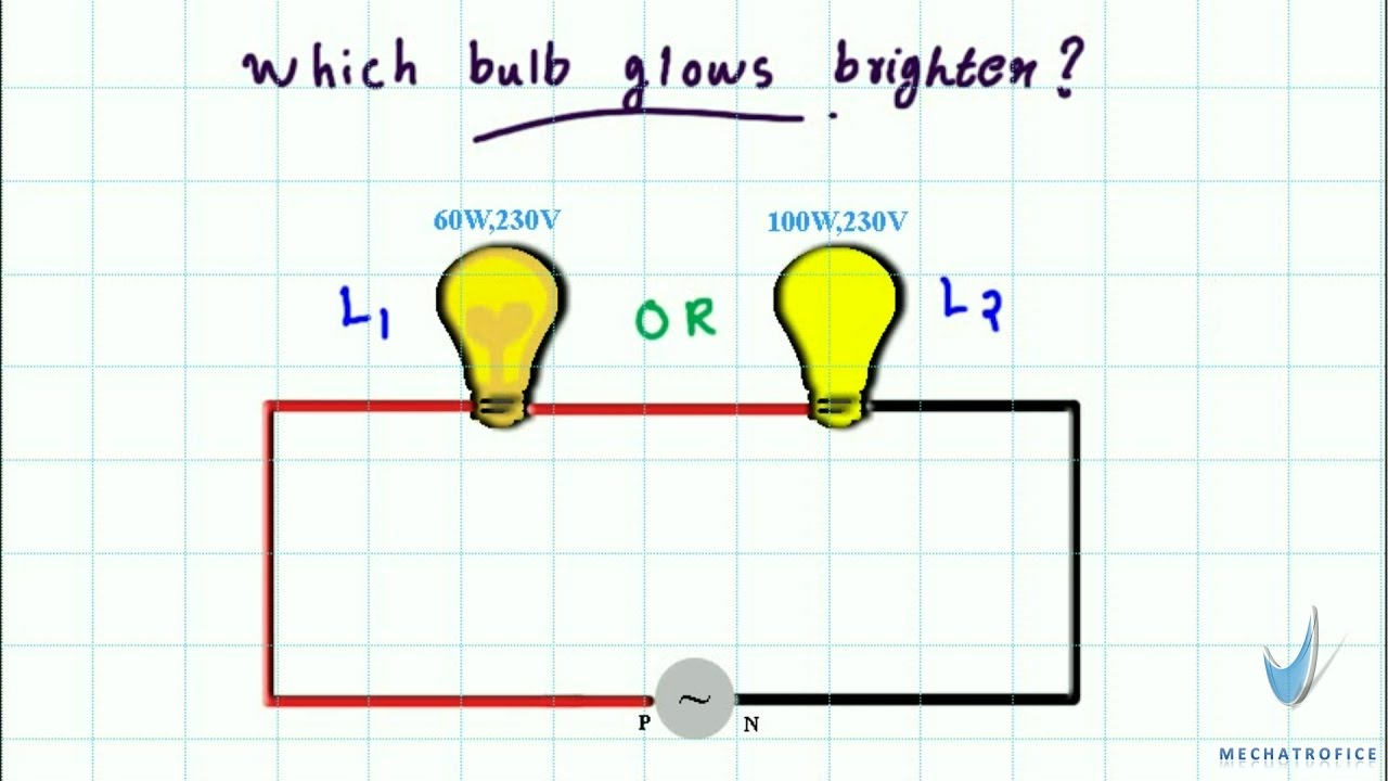 2 lights 1 switch wiring diagram ford taurus cooling system which bulb glows brighter in series light 05 youtube