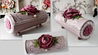 DIY/Amazing Jewelry Box from Pringles tube/Air dry clay creations