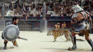 Гладиаторский бой Максимуса и Непобедимого Тигра (Гладиатор 2000)