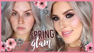 SPRING GLAM MAKEUP 🌻 Chit Chat Get Ready With Me!