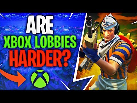 ARE XBOX LOBBIES HARDER? (Fortnite Battle Royale)