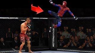 ЧЕЛОВЕК-ПАУК и его САМЫЕ НЕВЕРОЯТНЫЕ МОМЕНТЫ в UFC 3/Spider-Man ЛУЧШИЕ НОКАУТЫ