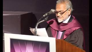 Convocation 2009: Keynote speaker, Lord Bhiku Parekh  | Whistling Woods International
