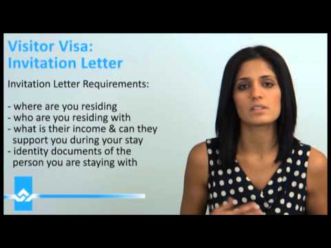 Canada Visitor Visa Invitation Letter  Youtube