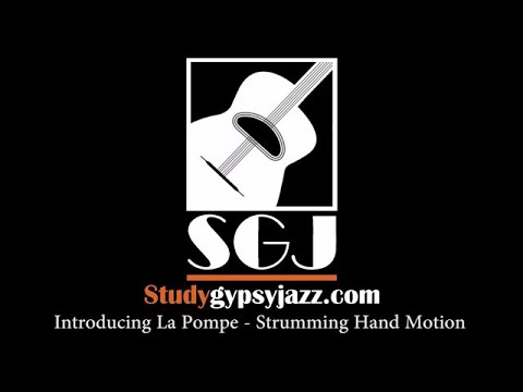 Gypsy Jazz Lesson - Introducing La Pompe - Strumming Hand Motion