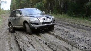 VW Touareg UAZ Patriot Hyundai Tucson 4x4 Off road Mud Test
