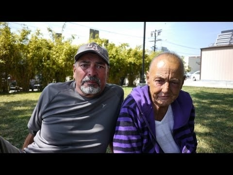Edward and Anita live homeless in a park in Glendale, California.