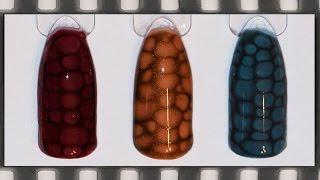 Маникюр гель лаком Змеиная кожа, Эффект кожи рептилий | 3D Snakeskin  Nail Art Tutorial
