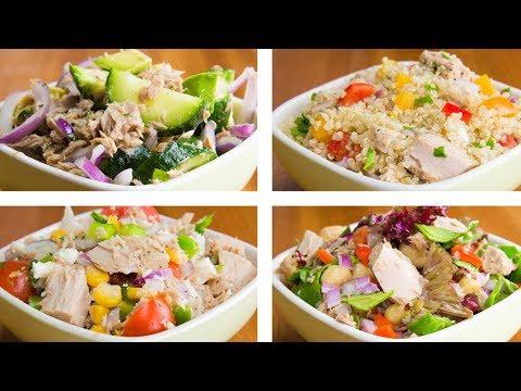 4 Tuna Salad для потери веса | Легкие Рецепты тунца