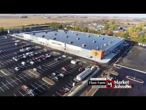 Fleet Farm (Cedar Falls, IA) Aerial 10.24.19