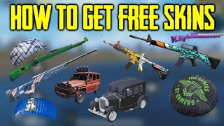 How to get Free Weapon Skins for FREE   How to get free Parachute, Vehicle Finishes for FREE