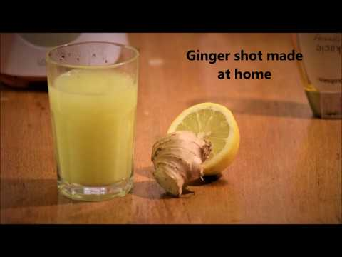 How to: Making ginger shot with a blender