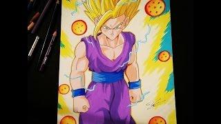 Drawing Gohan SSJ2 [ Dragon Ball Z ] - TolgArt