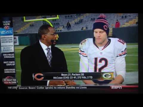 Josh McCown defeats Packers