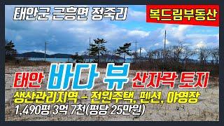 [태안토지(땅)매매] 태안 안흥항 인근 태안 바다 뷰 …