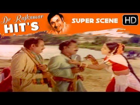 Manjula And Rajkumar Super Comedy Scenes  | Sampathige Saval - Old Kannada Movie | Scene 07