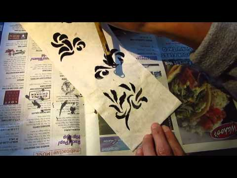 Chinese painting paper explained in English and French ASMR