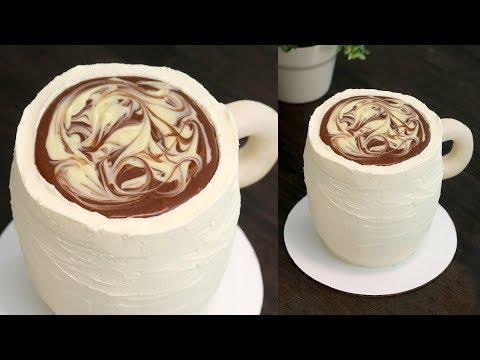 "(easy!!)-coffee-mug-cake-with-ganache-""coffee""-topping!- -recipe"