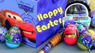 Angry Birds Toy Surprise Easter Eggs CARS 2 Holiday Edition Disney Pixar Epic Review Disneycollector