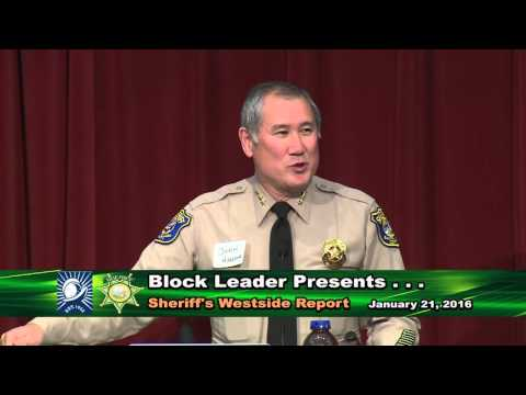 Block Leader Meeting:  Sheriff's Westside Report - January 21, 2016