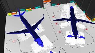 Airbus A320 4th FAL Hangar Flyover Simulation