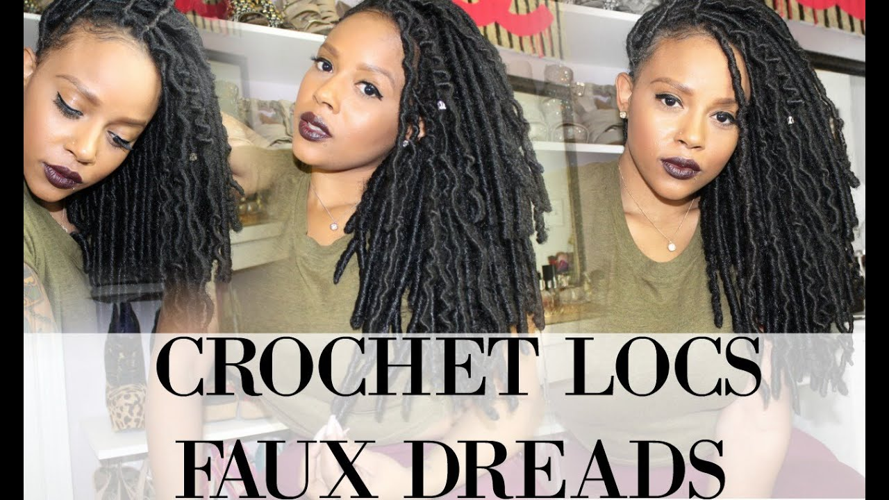 Crochet Locs : How To Crochet Locs Faux Dreads - YouTube
