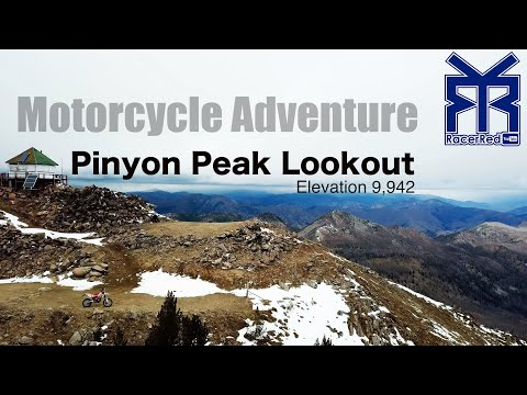 Pinyon Peak, Idaho Lookout - Beta 500RR-S Motorcycle Adventure (10,000 feet elevation!)