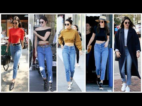 kendall jenner street style (mom jeans) thumbnail