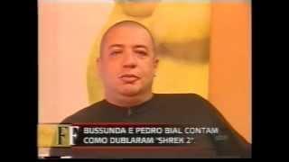Dubladores nacionais do filme Shrek 2 no programa Falando Francamente no SBT em 2004