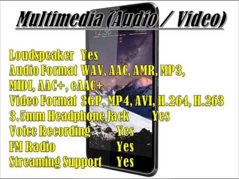 vodafone smart 4 max Specs