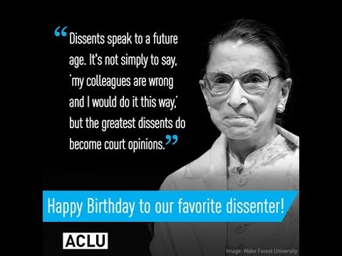 Ruth Bader Ginsburg  - An ACLU Lawyer on the Supreme Court!