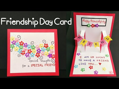 DIY Friendship Day Card | How to make card for friends | Friend Pop Up Card | Best Friend Card Ideas