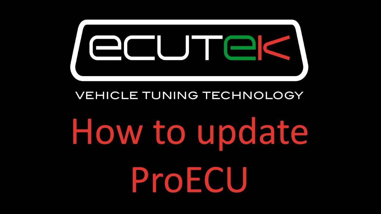 How to update ProECU – Home