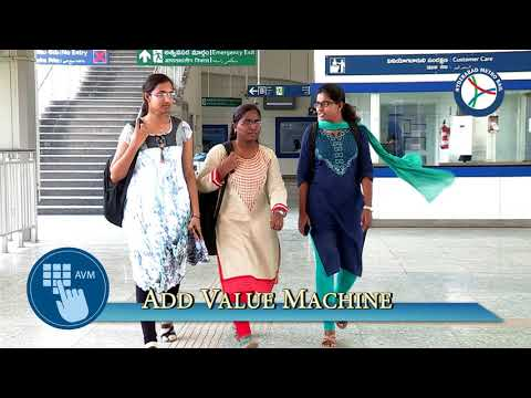 How to purchase tokens at Hyderabad Metro station