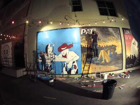 Time Lapse Mural with Joe Pagac - Pat Benatar and Rev Horton Heat