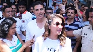 Akshay Kumar & Parineeti Chopra At Women Self Defense Graduation Day