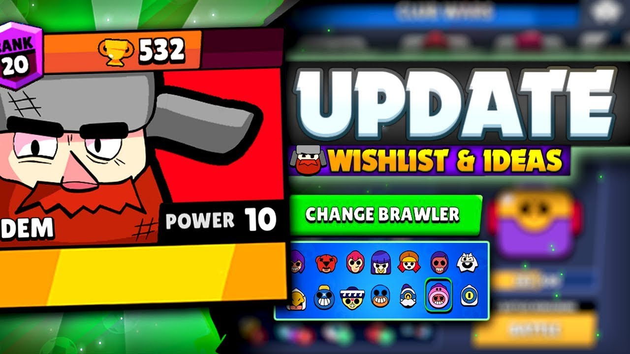 New Brawlers, Club Wars & More! | UPDATE WISHLIST For Brawl Stars ...