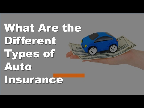 What Are the Different Types of Auto Insurance | Car Insurance Coverage Types