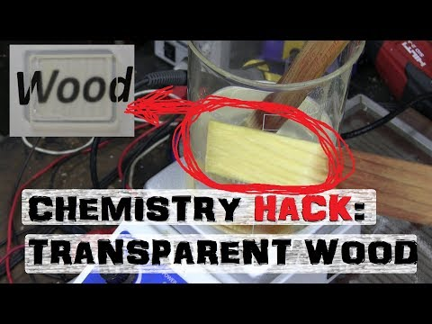 Making WOOD GLASS   Home Chemistry Experiment