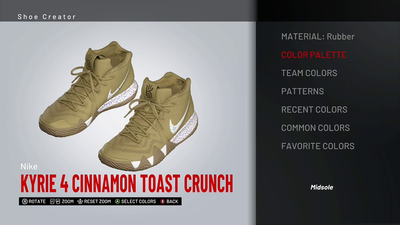sale retailer ef666 d01a0 NBA 2K19 Shoe Creator - Nike Kyrie 4