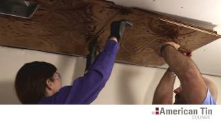 Drywall and Popcorn Tin Ceiling Tile Installation | American Tin Ceilings