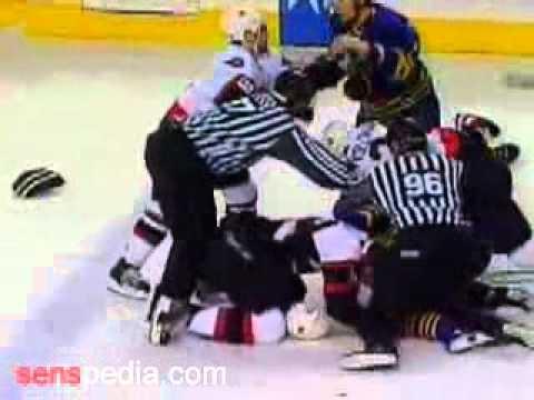 Ottawa Senators vs Buffalo Sabres: Huge Hockey Fight