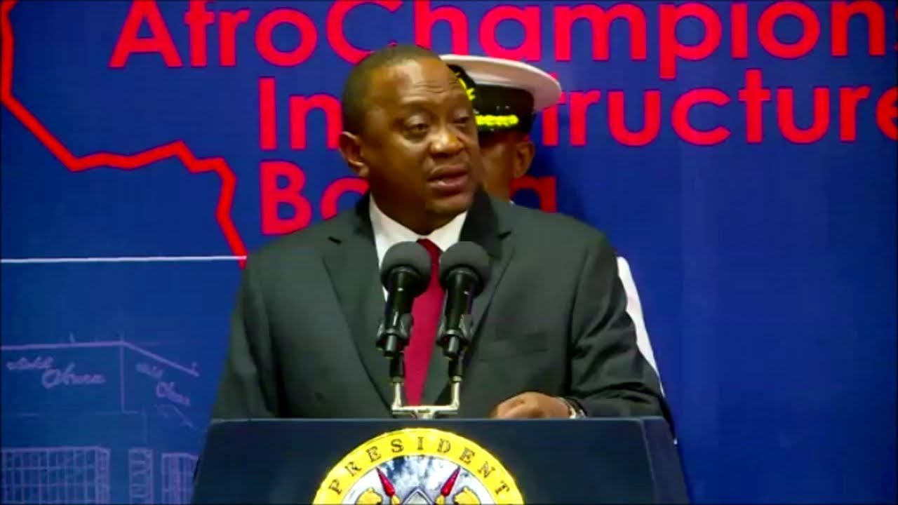 UHURU KENYATTA EMPHASIZE INFRASTRUCTURE TO BE KEY IN TRADE!!!