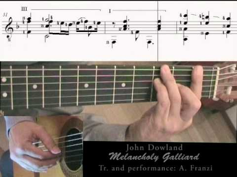 J. Dowland  Melancholy Galliard with music score